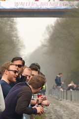 Paris-Roubaix, the Race, Place to meet friends (gerrygoal2008) Tags: paris roubaix arenberg race racing cyclist cycling friends meeting meet people portrait retrado