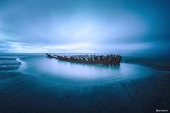 Desolation. (_Anathemus_) Tags: low tide long exposure wreck nikon d750