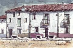 Casas entre medianeras (P.Barahona) Tags: casas puertas ventanas balcones persianas cielos
