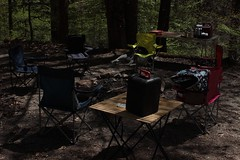 springtime setup (pacfolly) Tags: camping chairs table supplies campfire campingspot campinggear gear