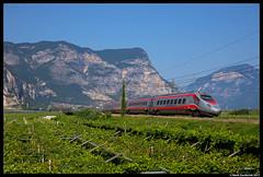 Trenitalia ETR.600, Mezzocorona 01-08-2017 (Henk Zwoferink) Tags: pineta trentinoaltoadige italië it trenitalia henk zwoferink pendelino alstom fs gruppe etr 600