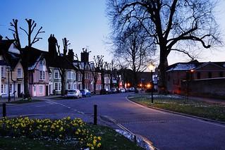 Winter (in Spring) Evening on Horsham's Causeway