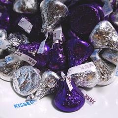 12 / 52 : 2 (Randomographer) Tags: 52weeks hersheys kisses brand chocolate hershey company candy delicious foil wrapper purple silver bitesized pieces distinctive shape aluminum food edible 12 52 2018