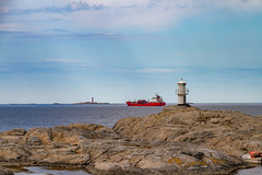 Marstrand/Sverige 2013 (karlheinz klingbeil) Tags: schiff leuchtturm sverige ocean northsea lighthouse schweden wasser boot ship boat water marstrand nordsee meer