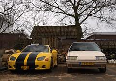Mitsubishi 3000GT V6 / Citroën BX 19 TRI (Skylark92) Tags: nederland netherlands holland xr10rd bx 19tri 19 tri 1989 blanc cremant noordholland northholland annapaulowna mitsubishi 3000gt 37lvrb 1995 v6 citroën