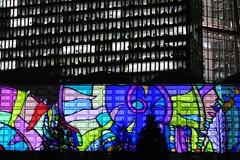 Colour-contrasting (JB Fotofan) Tags: luminale2018 luminale frankfurt ecb ezb lumixfz1000 nightshot nacht lichtkunst lightart lights licht