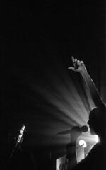JohnnyMartyr_VinylRhino_M6_NewP3200_005 (Johnny Martyr) Tags: vinylrhino ashleymiles kodaktmaxp3200 kodakalaris kodakprofessional tmax p3200 kodaktmax kodakp3200 newfilm 3200iso 6400iso concert bw blackandwhite film 35mm leica rangefinder leicam6 leicasummarit 50mm15 shadow light composition moment music rock local frederick maryland stage