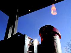 Window View (byzantiumbooks) Tags: sky ketchup lamp reflection