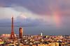 discret rainbow (Julianoz Photographies) Tags: rainbow julianozphotographies paris france europe architecture eiffeltower toureiffel