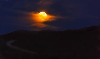 Glowing Super Moon
