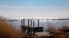 Glittering water (Explore) (Cajofavi) Tags: fs180408 skonhet fotosondag sea sky sun glittering skimmer jetty brygga kalmar sweden rocks