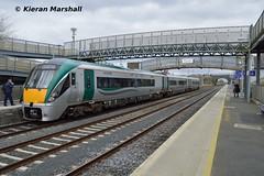 22048 at Kildare, 31/3/18 (hurricanemk1c) Tags: railways railway train trains irish rail irishrail iarnród éireann iarnródéireann kildare 2018 22000 rotem icr rok 3pce 22048 1616kildaregalway
