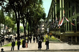 Old postcard, Saratoga Springs, N. Y. Love postcards of the Edwardian era --- not quite photos, not quite paintings. Something in between. This is a favorite town. As the name suggests, sulphur odor ubiquitous!