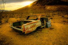 Rhyolite Nevada (michaelwalker19) Tags: rhyolite rusty desert oldcar sunset ghosttown