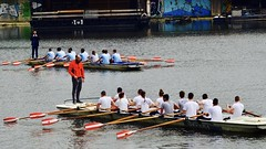 Warm up for final race (dtankosic) Tags: belgrade boat regata sava highschoolregata 6th 2018 ada rukavac galia 12seats