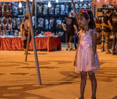 Like a movie star already (funky shit happens) Tags: phuket market festival girl little young kid sunglasses dress pink