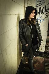 Narrative Photography (HelenPhillipsMedia) Tags: mysterious enigmatic engima subway dark graffiti girl
