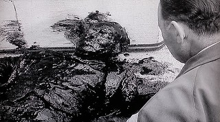 Quatermass finds Vincent Broadhead dying, covered in a poisonous black slime.