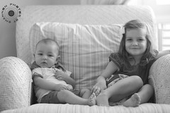 Siblings (photosbyshannon) Tags: photosbyshannon portrait childportrait blacknwhite bw closeup toddler girl grumpy frown kid baby infant siblings family familyportrait