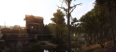Old Sawmill (Den7on) Tags: hunt showdown mysterious evening crytek cryengine water tree sky park building old sawmill