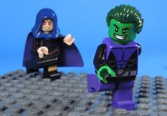 Teasing Raven (-Metarix-) Tags: lego super hero minifig teen titan beastboy raven tease ship comics comic dc rebirth universe