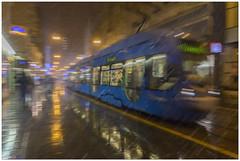 Tram in the snow (aviana2) Tags: snow tram zagreb croatia winter city lights aviana sony a7ii