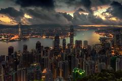 Hong Kong skyline. (Massetti Fabrizio) Tags: hongkong skyline sunrise sky sun sunlight sunset sea seascape cityscape clouds color china city night nikond4s 2470f28 nikon