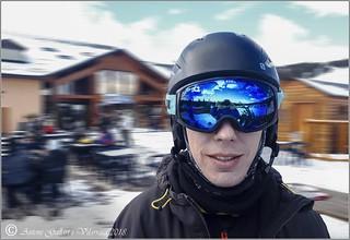 Selfie en un dia d'esquí amb el meu fill. (França)