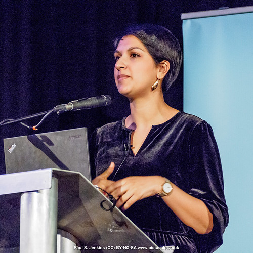 P3071214 Angela Saini - Humanists UK 2018 Franklin Lecture at the Camden Centre, London