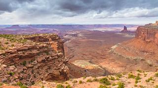 Canyonlands Island in the Sky Orange Cliffs Overlook 02-22-2018