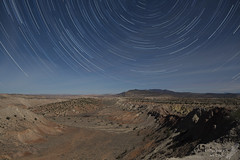 Star trails over Tierra Amarilla Anticline in the full moon (Squirrel Girl cbk) Tags: 2018 fullmoon startrails starstax tierraamarilloanticline