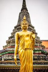 Golden Buddha at Wat Arun temple (Marc Rauw.) Tags: bangkok asia thailand buddha buddhism religious religion temple wat watarun travel tourism tourist gold golden statue sculpture tranquility culture rising tall olympuspen epl1 olympus microfourthirds m43 μ43 panasoniclumix20mmf17 panasonic lumix f17