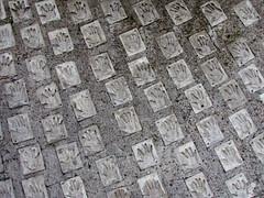 Huellas (0_miradas_0) Tags: edificio cepal building 1966 arquitectos emilio duhart christian groote roberto goycoolea oscar santelices architects comisión económica para américa latina caribe naciones unidas arquitectura architectura estructura structure hormigón concrete historia history huella mano hand print ciudad santiago chile city