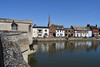 View of the quay from St Ives Bridge (philk_56) Tags: stives cambridgeshire huntingdonshire bridge river ouse medieval chapel church steeple quay town