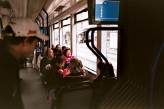 Negative0-27 (bobango) Tags: woman public transport city urban fuji superia superia400 35mm film analog fujisuperia pentax pentaxme