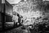 DPU's (Woodypug) Tags: bnsf blackwhite bw kingmancanyon arizona dpus landscape locomotive cofc westbound rc helpers