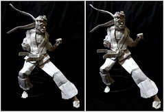 ORIGAMI - RYU (STREET FIGHTER) (Neelesh K) Tags: origami ryu street fighter box pleating 64 grids neelesh k
