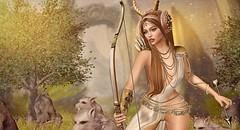 Diana.... Goddess of the Woodland (Duchess Flux) Tags: lootbox kustom9 theclique shinyshabby deviousmind noblecreation tableauvivant zenith skinnery akeruka poseidon alchemy unkindness littlebranch keke fantasy goddess artemis diana secondlife sl