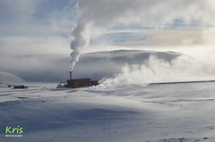 Krafla Power Station (Iceland) (|kris|) Tags: europe iceland snow ice landscape steam smoke sunrise kris landsvirkjun krafla powerstation plant power energy resource electricity geothermal source harnessing earth boreholes seismic extraction wells drilling hot magma