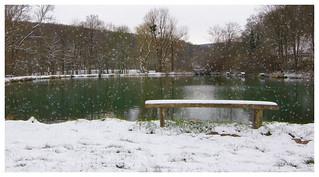Lake in the Snow Globe