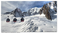 "Volando sobre las grietas del glaciar de ""La Vallée Blanche"". Chamonix. Francia / Flying over the cracks of the glacier of ""La Vallée Blanche"". Chamonix. France (José María Gómez de Salazar) Tags: agujadelmidi chamonix alpes alpesfranceses paisaje nieve montaña montañas ladera glaciar alps frenchalps landscape snow mountain mountains hillside glacier aiguilledumidi nubes sky clouds snowylandscape teleferico montblanc grietas helbronner"