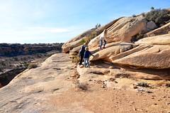 Sue & The Kids On The Slickrock Trail (Joe Shlabotnik) Tags: proudparents nationalpark utah hiking violet 2017 sue canyonlands everett november2017 canyonlandsnationalpark afsdxvrzoomnikkor18105mmf3556ged