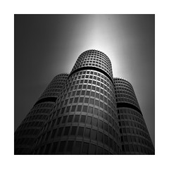 The Dark(er) Side (GlennDriver) Tags: black white bw mono square low key long exposure germany europe canon monochrome architecture building