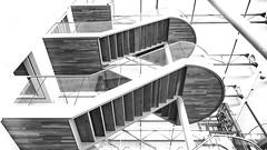 Stairway to Heaven !!#46   Explore 26/3/2018 (jo.misere) Tags: genk bibliotheek stairs trap highkey mono grijs grey
