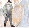 # 289 2018-04-06 (h e r m a n) Tags: herman illustratie tekening 10x10cm tegeltje drawing illustration karton carton cardboard kunst art male man lezer lezen reading reader read cap pet lopen walk walking mobilephone mobile mobiel telephone telefoon iphone apple