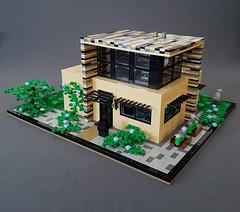 Vanilla House MOC kitchen corner (betweenbrickwalls) Tags: lego afol moc house garden architecture roof modern modernhome home