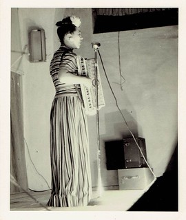 Photo from Olya Klem's Time as a Singer/Accordionist in the USO during and after World War II