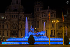 Cibeles Fountain in blue light on the World Autism Awareness Day (nieves.valderrama) Tags: autism cityatnight citylights lighttrails longexposure lowlightphotography madrid madridmemola night nightimages nightlights nightphotography nightscape nightscene nightshooters nightshot nofilter picoftheday spain streetlights themadridbible