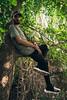 Iván Redondo Flores (César Samaniego García) Tags: retrato portrait green verde urbanstyle balenciaga river árboles río trees moda