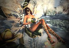 Second Life 08.04.18 (Angelo Diabolico) Tags: maitreya catwa secondlife swank event irrisistible dimis mask gacha angel magic flower mystic fantasy